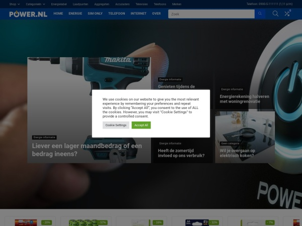 Screenshot of www.power.nl