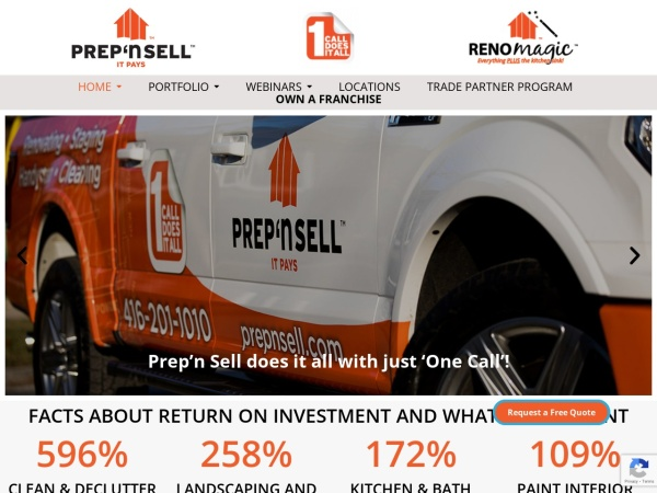 Screenshot of www.prepnsell.com