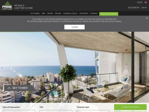 Screenshot of www.prime-property.com