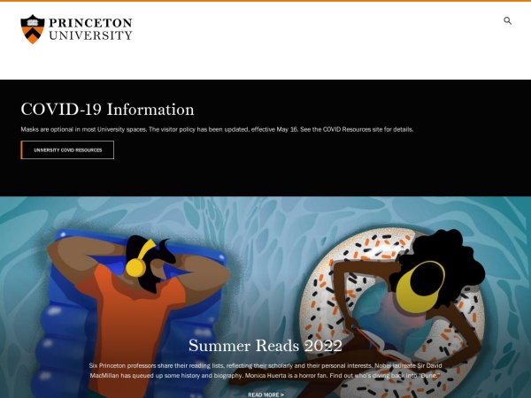Screenshot of www.princeton.edu