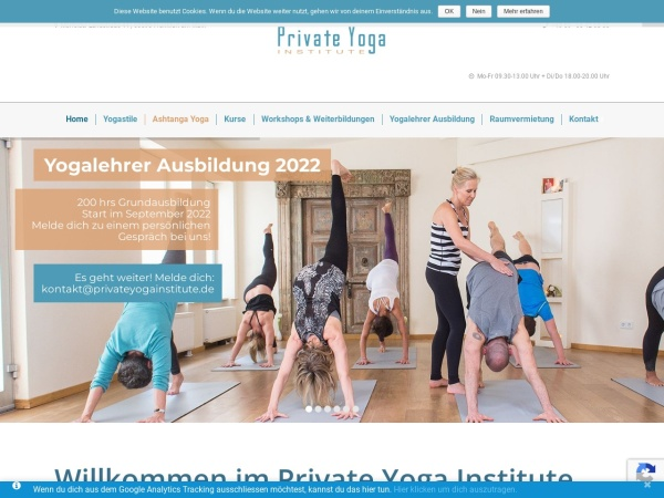 Screenshot von www.private-yoga-frankfurt.de