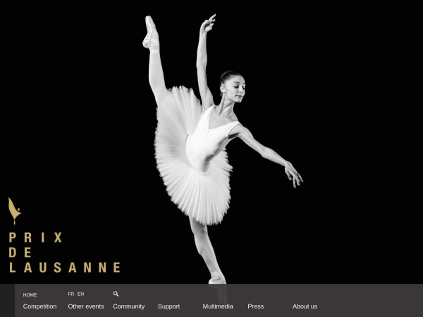 Screenshot of www.prixdelausanne.org