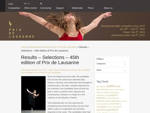 http://www.prixdelausanne.org/results-selections-45th-edition-of-prix-de-lausanne/