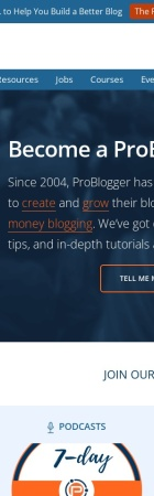 Screenshot of www.problogger.net