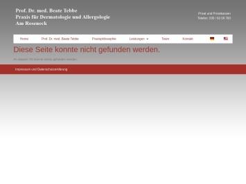Screenshot von www.prof-tebbe.de