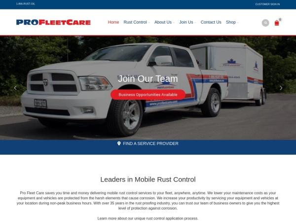 Screenshot of www.profleetcare.com