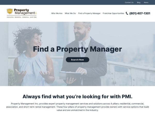 Screenshot of www.propertymanagementinc.com