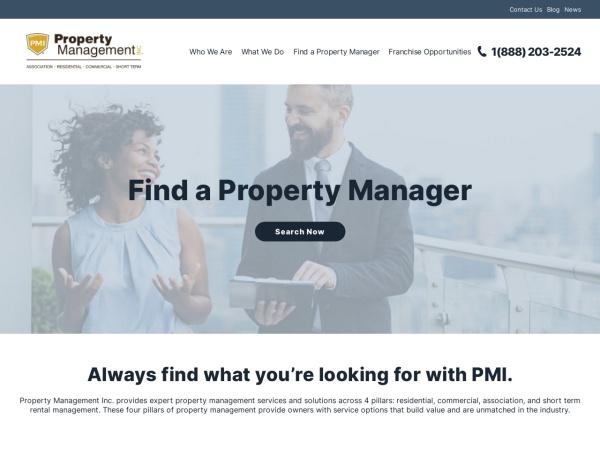 Screenshot of www.propertymanagementinc.com