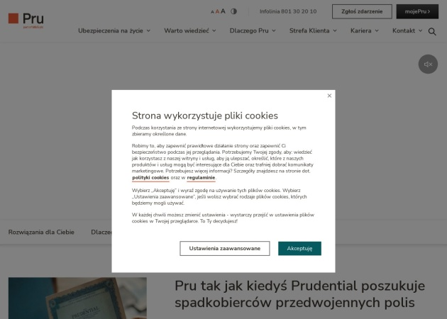 Screenshot of www.prudential.pl