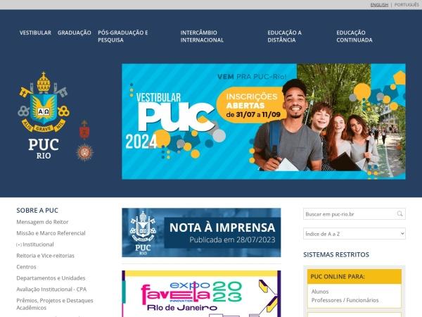 Screenshot of www.puc-rio.br