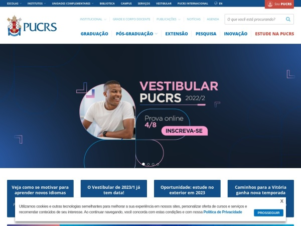 Screenshot of www.pucrs.br