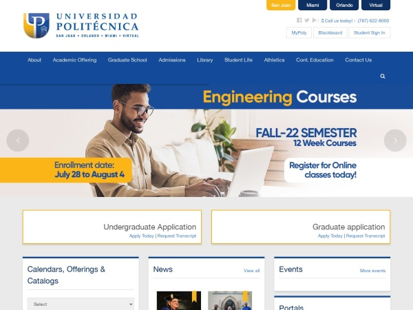 Screenshot of www.pupr.edu