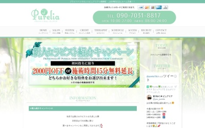 Screenshot of www.purelia.jp