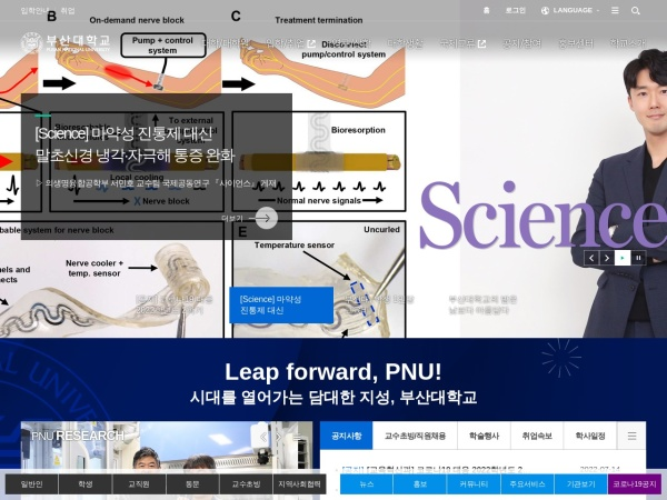 Screenshot of www.pusan.ac.kr