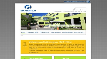 Screenshot of www.pv-rehabzentrum-graz.at