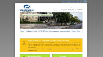 Screenshot of www.pv-rehabzentrum-wien.at