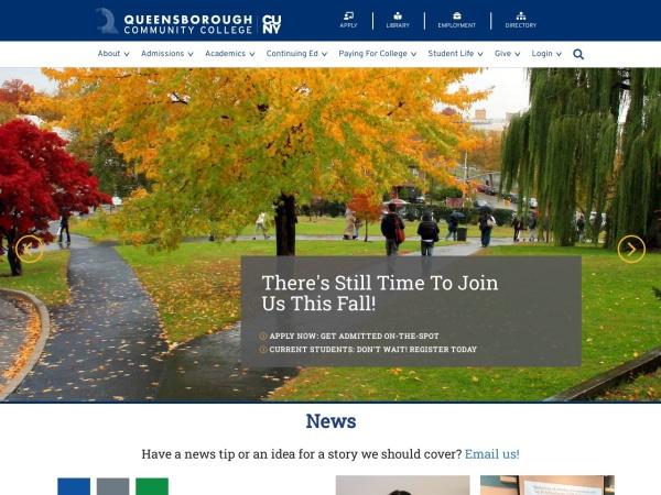 Screenshot of www.qcc.cuny.edu