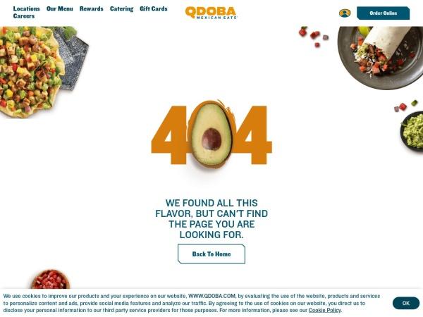 Screenshot of www.qdoba.com