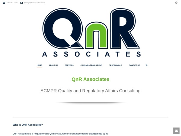Screenshot of www.qnrassociates.com