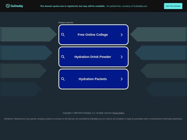 Screenshot of www.qoola.com