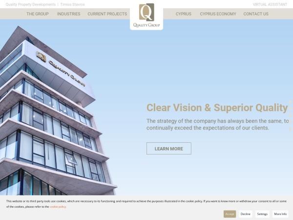 Screenshot of www.qualitygroupcyprus.com