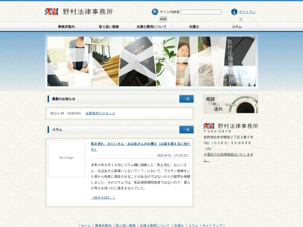 Screenshot of www.r-nomura-law.jp