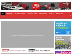 Captura de pantalla de www.radioamep.com.ar