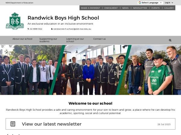 Screenshot of www.randwickb-h.schools.nsw.edu.au