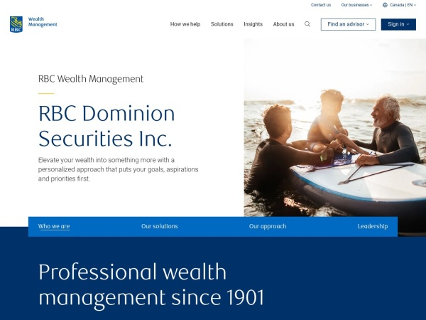 Screenshot of www.rbcds.com