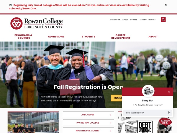 Screenshot of www.rcbc.edu