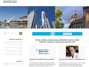 Captura de pantalla de www.recorriendobuenosaires.com.ar
