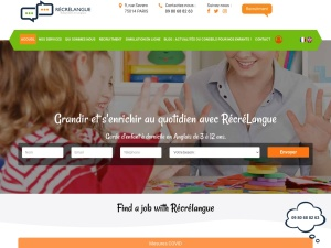 Récrélangue : Baby sitting Paris et cours