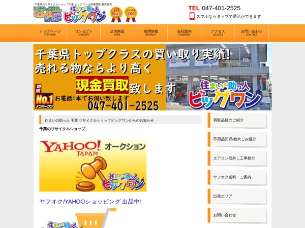 Screenshot of www.recycleshop-big1.com