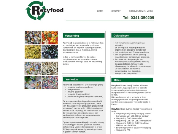 Screenshot of www.recyclingbv.nl