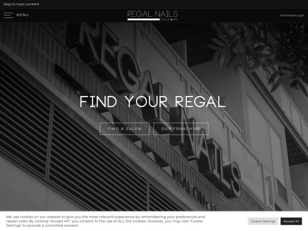 Screenshot of www.regalnails.com