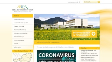 Screenshot of www.reha-muenster.at