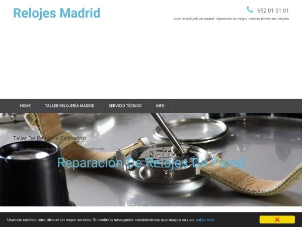 Captura de pantalla de www.relojesmadrid.com