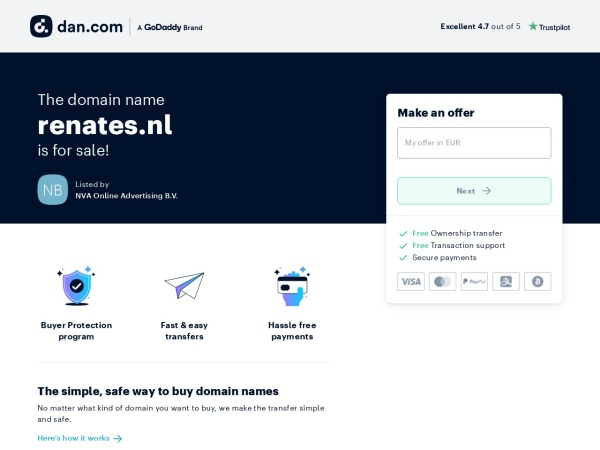 Screenshot of www.renates.nl