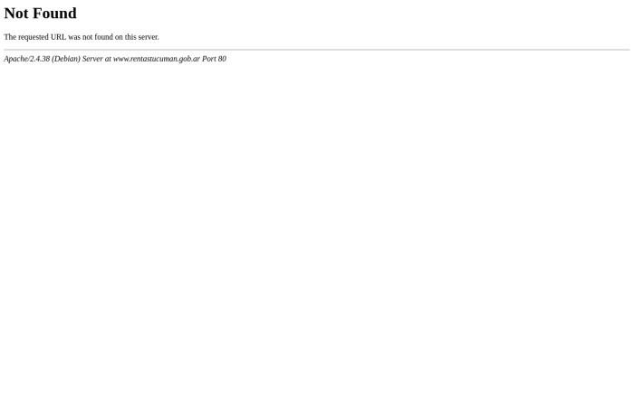 Captura de pantalla de www.rentastucuman.gob.ar