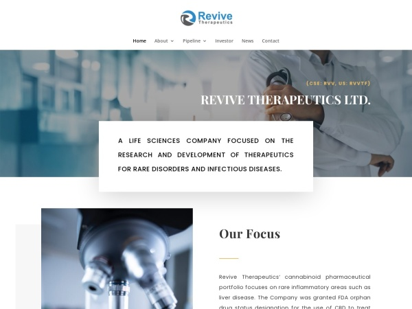 Screenshot of www.revivethera.com