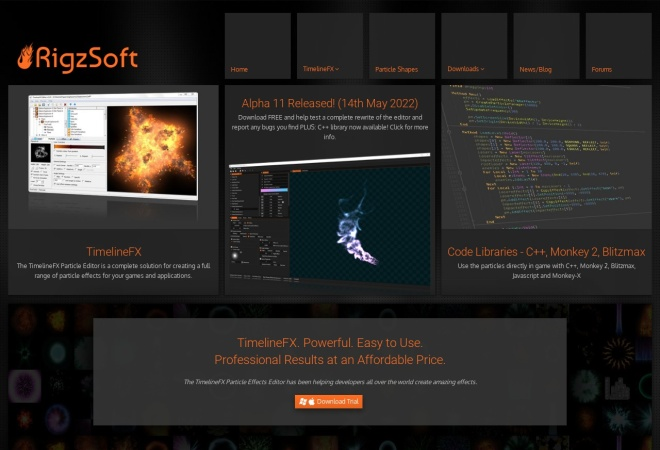 Screenshot of www.rigzsoft.co.uk