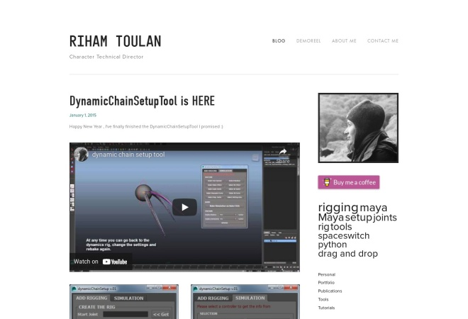 Screenshot of www.rihamtoulan.com