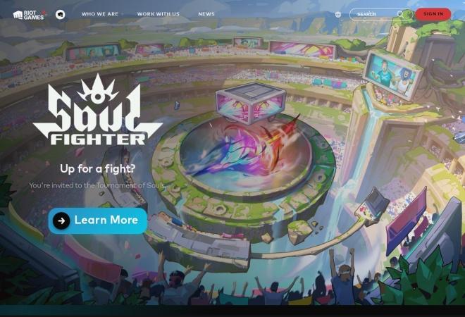 Screenshot of www.riotgames.com