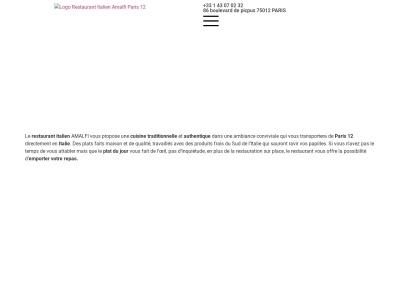 Amalfi, Restaurant italien à Paris 12