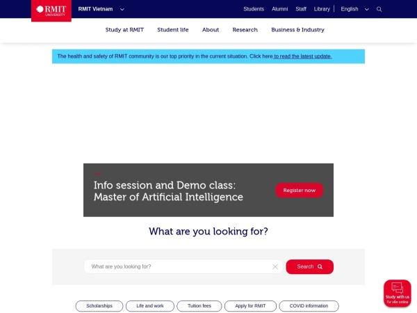 Screenshot of www.rmit.edu.vn