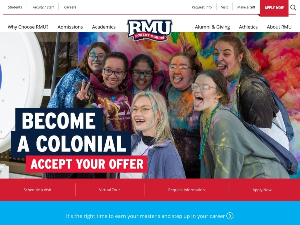Screenshot of www.rmu.edu