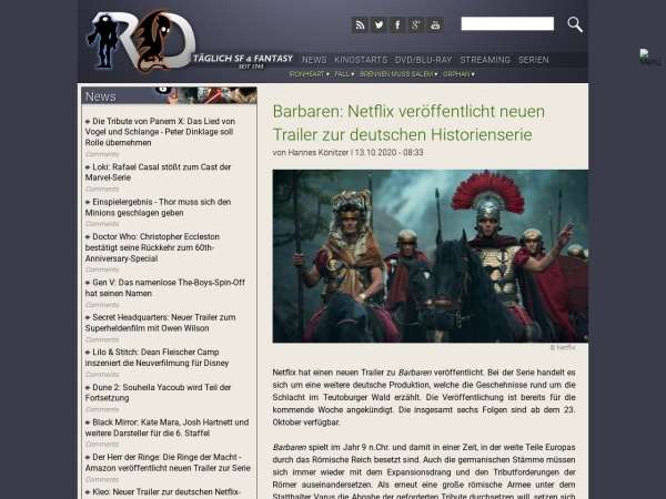 Screenshot von www.robots-and-dragons.de