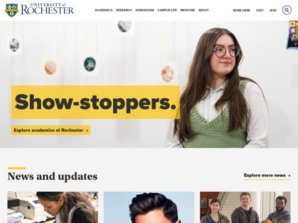 Screenshot of www.rochester.edu