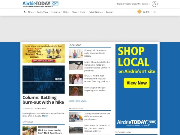 Screenshot of www.rockyviewweekly.com