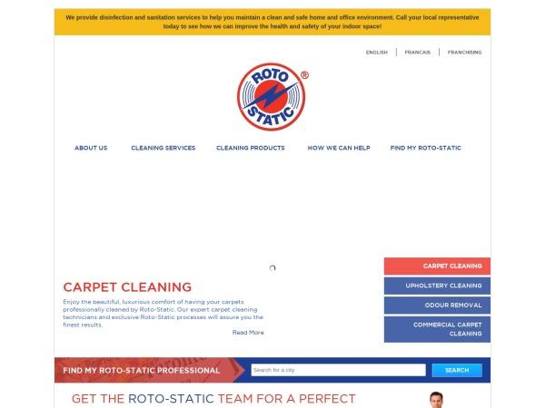 Screenshot of www.rotostatic.com